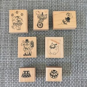 Circus themed crafting stamps